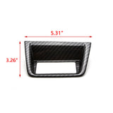 for Honda Accord 2018 2019 Car Console Control Function Button Trim Cover Panel Frame Decor ABS Carbon Fiber Look