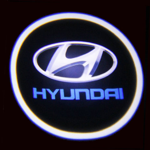 Xotic Tech Hyundai LED Logo Light Ghost Shadow Projector Car Door Courtesy Laser
