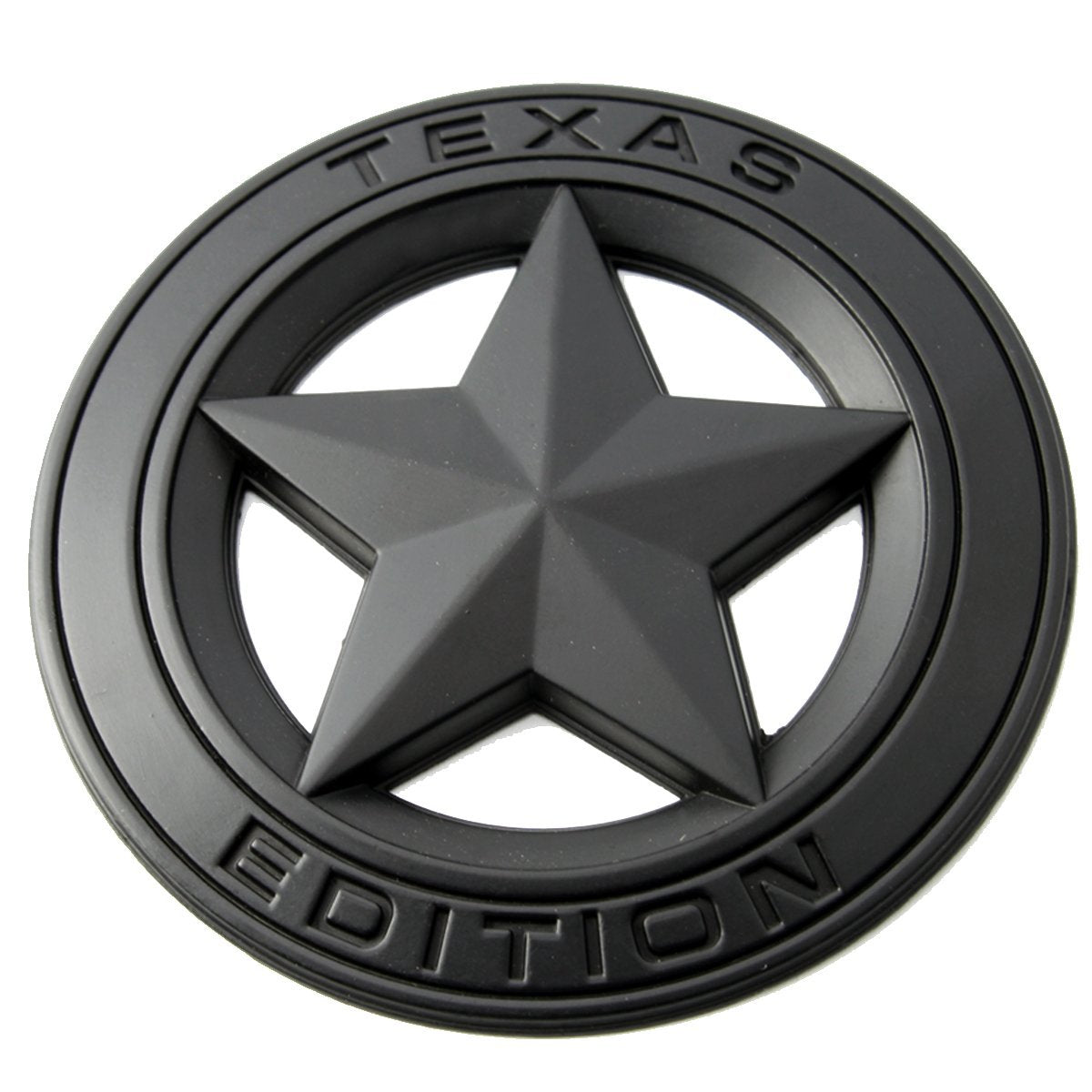 Star Metal Diameter 3 TEXAS EDITION Matt Black 3D Logo Decal Emblem