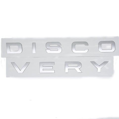 3D Matte Silver or Black Letter DISCOVERY Car Rear Front Badge Emblem Decal Sticker For LAND ROVER Front Hood Rear Trunk