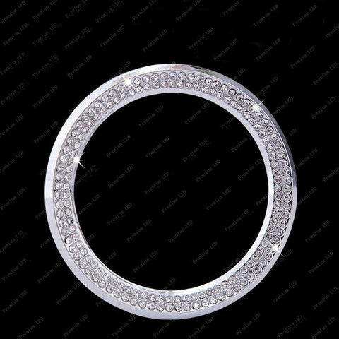 1 Piece 3D Rhinestone Car Steering Wheel Logo Decoration Sticker Ring Decal Trim For 2013-2015 BMW 1 3 5 Series x3 x5 x6