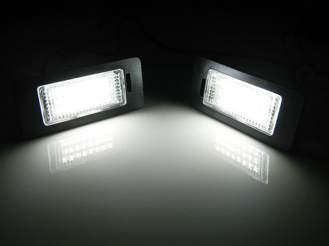 Super White Error Free LED License Plate Lights For Audi B8 A4 A5 S4 S5 Q5 TT