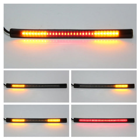 32-SMD Red Universal Flexible LED Bar For Motorcycle Bike Brake Tail Light & Left/Right Turn Signal Lamp