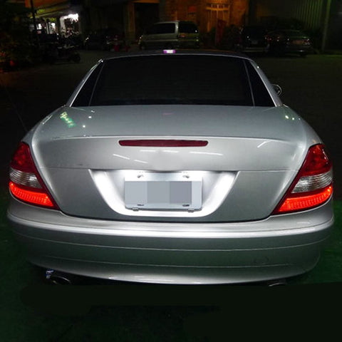 Error Free White LED License Plate Lights For Mercedes C CL CLS CLA E S SL SLK Class