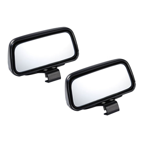 Blind Spot Mirror, 2 Pcs Black Rectangle Wide Adjustable Angle Convex Clip On Half Oval Rear View Conter Blind Spot Angle Auxiliary Mirrors For Car Truck SUVs Motorcycle