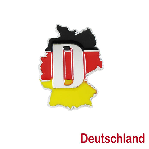 1x Germany Deutschland Map Badge For German Cars Audi BMW Mercedes MINI Mercedes-Benz Porsche Volksawgen Decoration
