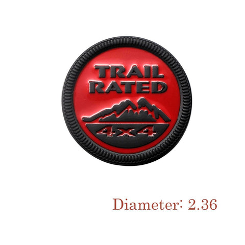 TARIL RATED 4x4 Badge Car Trunk Lid Side Fenders Body Emblem Nameplate Sticker For Jeep Wrangler [Red/Black/Bronze]