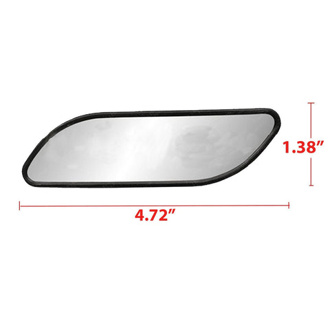 "Blind Spot Mirror, 2 Pcs 4.7"" Auxiliary Blind Spot Convex Rear Wide View Strip Shape Mirrors For Car Truck SUVs Motorcycle"