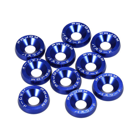 Blue / Black / Red / Gold / Purple / Silver Fender Bumper Washer Bolt, CNC Finishing Washer Engine Bay Screw Dress Up Fastener Kit