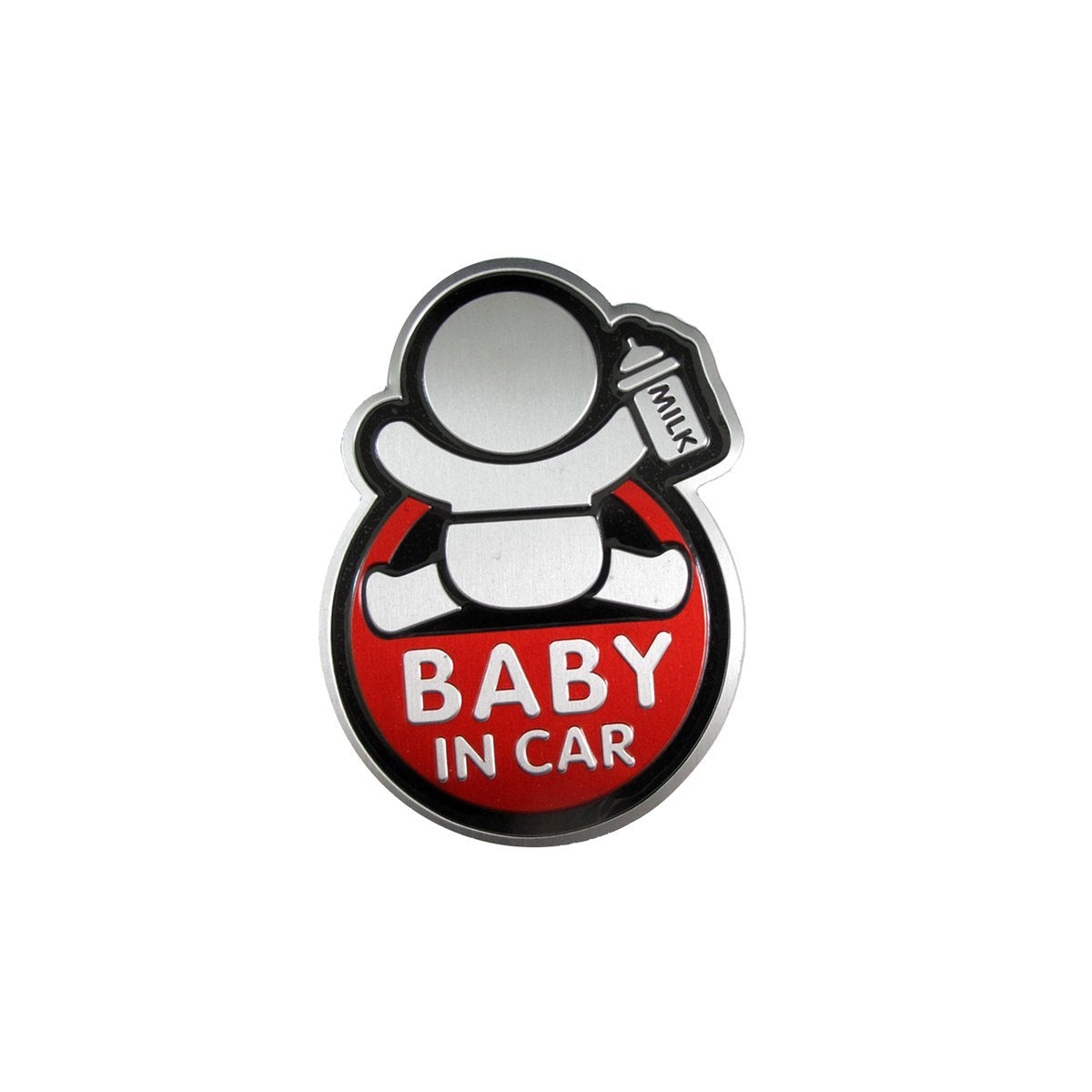 Baby In Car w/ Bottle Warning Signs Funny For Mom Dad Car Window