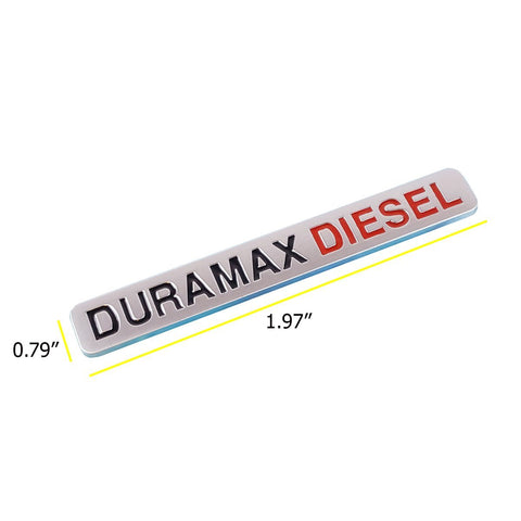 3D Chrome Emblem Badge DURAMAX DIESEL For Chevrolet Sierra GMC Silverado 2500HD