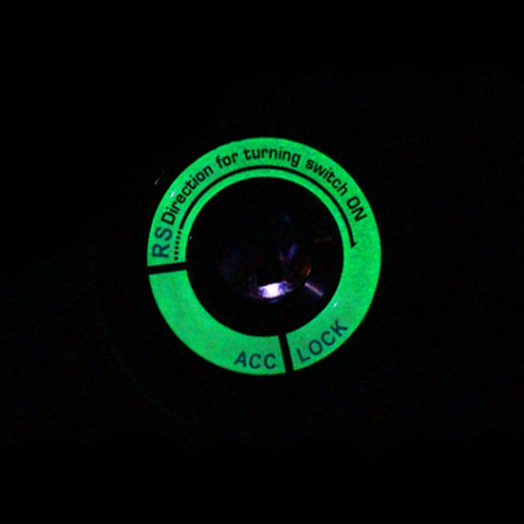 1 Piece Car Engine Start Stop Ignition Key Hole Luminous Cover Sticker For Ford Focus 2 3 4 Sedean Hatchback and Kuga
