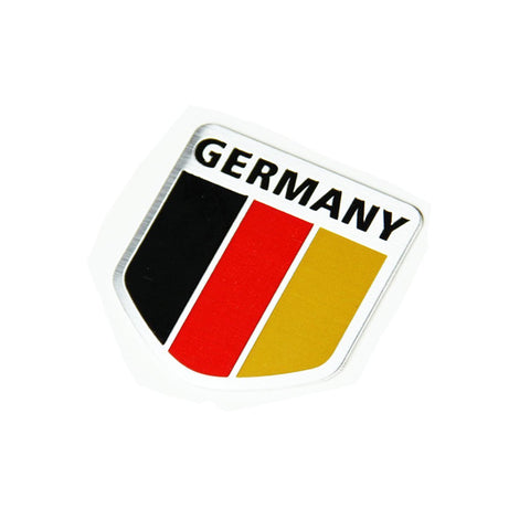 Alloy Metal German Germany Flag Chrome Emblem Badge Sticker
