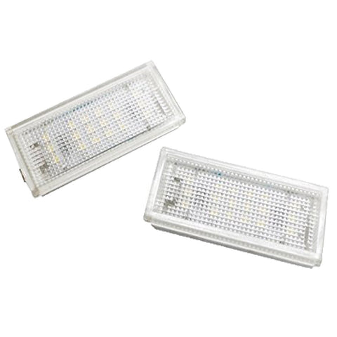 2x 2x Error Free White LED License Plate Lights Lamp For BMW E46 2D 04-06
