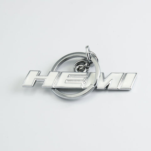 1x HEMI 3D Metal Keychain Ring 3D Key Chain Nameplate Emblem for Mustang Dodge Chevy Viper[black/Red/White]