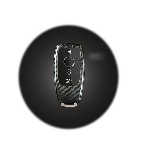 Real Carbon Fiber Remote Key FOB Case Cover for 2017-up Mercedes Benz E-Class E43 W213 E300 E400 Sedan
