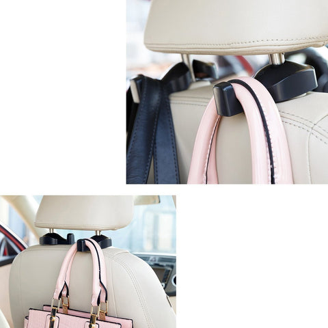 2 Pieces Pack Universal Car Back Seat Headrest Hanger Holder Hooks For Bag Purse Cloth Grocery