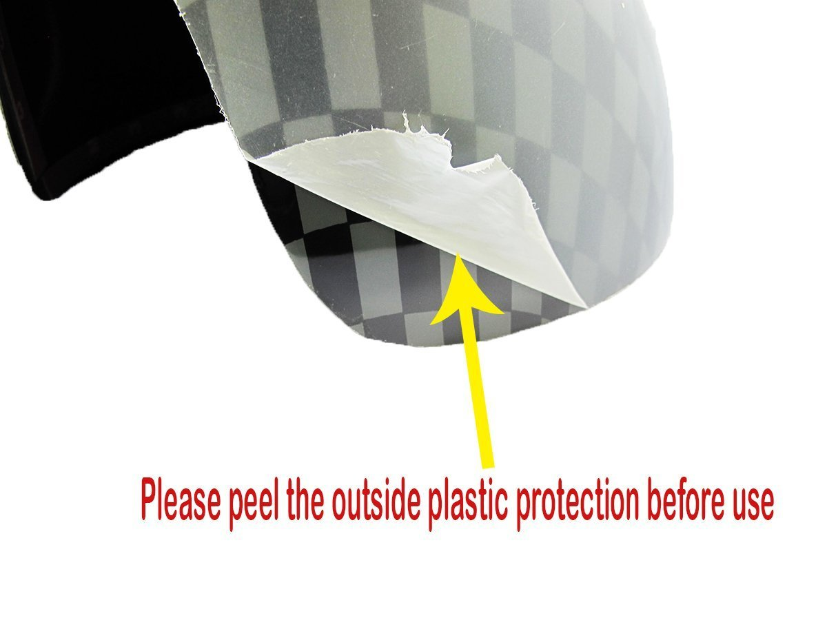 Side Mirror Covers Caps For Non Auto Power Folding Mirrors