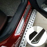 "2 x 19.1"" Carbon Fiber Car Door Scuff Protector Plate Sill Guard Panel Trim Cover Sticker"