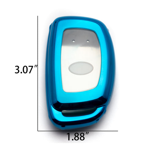 Blue / Black / Red Soft TPU Full Protection Remote Key Fob Case Cover for Hyundai Accent Santa Fe Elantra Tucson 3/4-Button Key