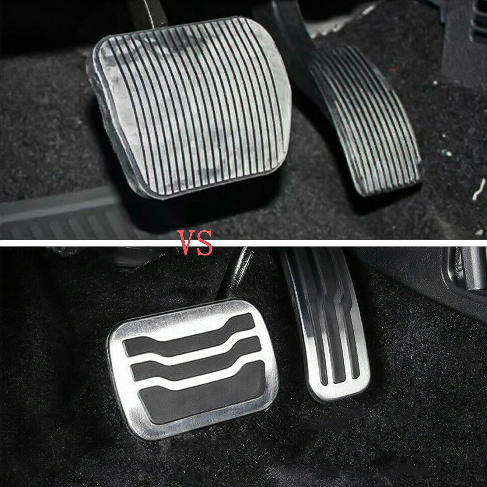 for Ford Ford Raptor F150 2015-2020 NUIOsdz Stainless Steel at Non-Slip car Pedal pad Accelerator Brake Pedal Cover