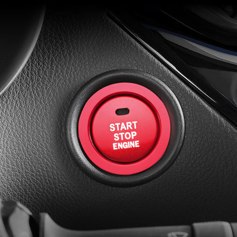 Aluminum Keyless Engine Start Stop Push Button Cover with Surrounding Trim Ring for Toyota Camry 2018 2019 2020, Car Engine Ignition Push Start Button Cap Decoration