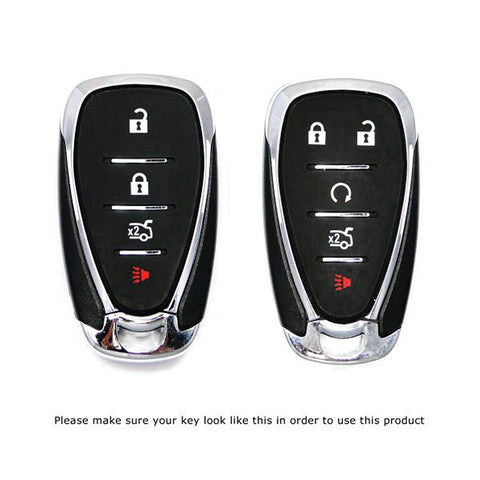 Glossy Metallic Remote Key FOB Shell Cover for Chevy Malibu Camaro Cruze Spark Bolt[Black\ Red\White\ Gold]
