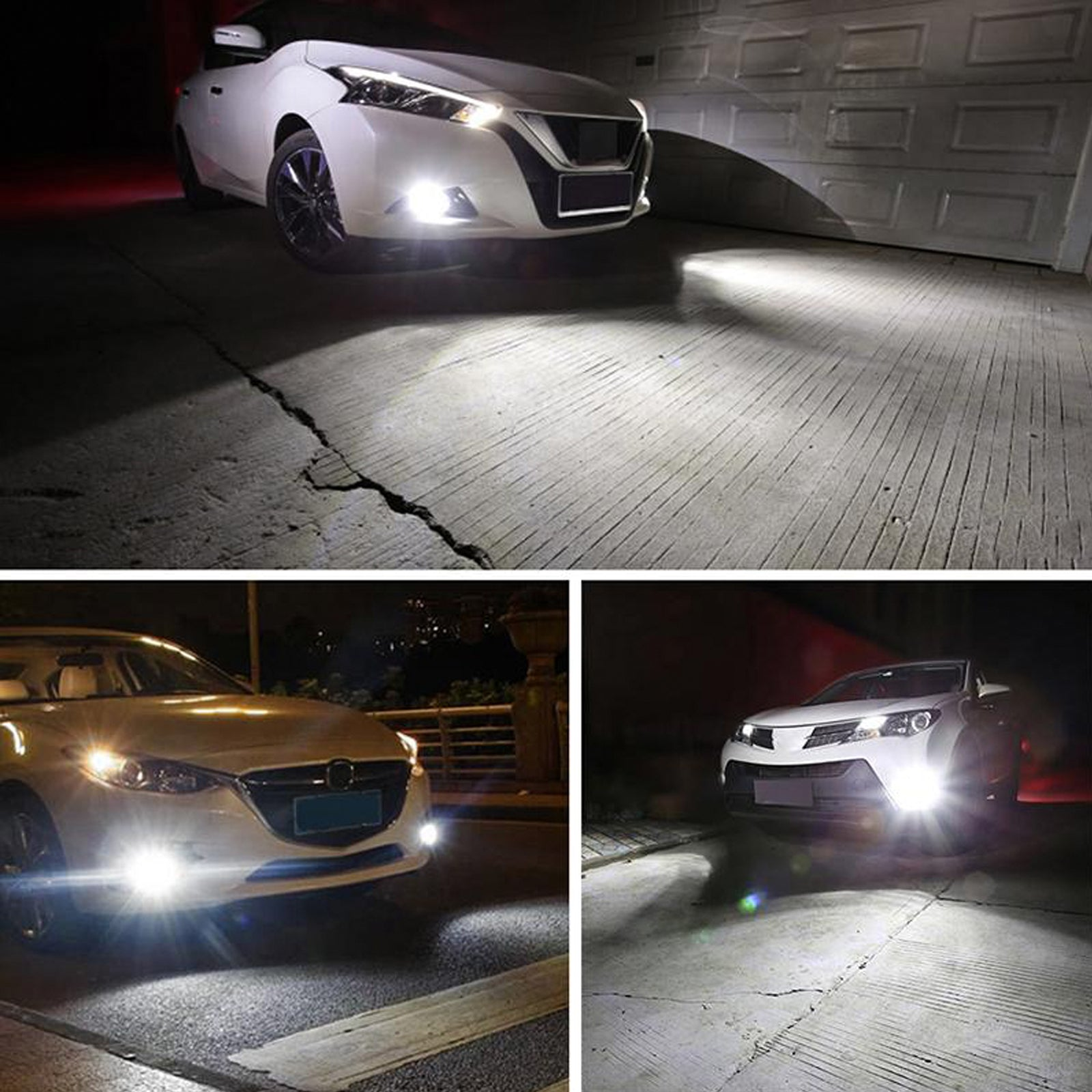 2x H7 LED Headlight Kit with Retainer Adapter Clip Holder