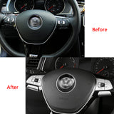 6pcs Silver Steering Wheel Control Button Cover Trim Decoration for Volkswagen Passat Golf SportWagen Alltrack Tiguan Altas Arteon 2016-up