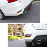 2x ABS Chrome Rear Bumper Reflector Cover Rear Fog Light Frame Moulding Trim for Nissan Sentra Sedan 2016-2019