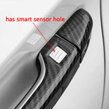 Carbon Fiber Look Car Door Handle Protector Cover Trim for Honda Accord 10th 2018 2019 2020