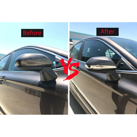 2pcs ABS Chrome Car Side Mirror Trim Rearview Mirror Protective Strip for Toyota Camry 2018 2019