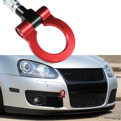 JDM Sports Red/ Neo Track Racing Style CNC Aluminum Tow Hook