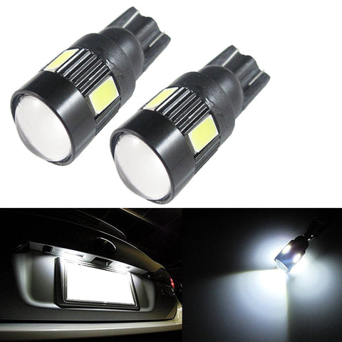 Xenon White T10 T15 3W 6-SMD LED Projector bulb For for Car License Plate Lights