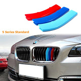 1 set BMW M-Colored Kidney Grille Insert Trim TRI Color M Sport Strips Strips For BMW
