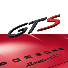 1x Porsche Cayenne GTS Black & Red Direct OEM Replacement Emblem / Badge / Name Plate / Decal Replaces OEM 955-559-040-00