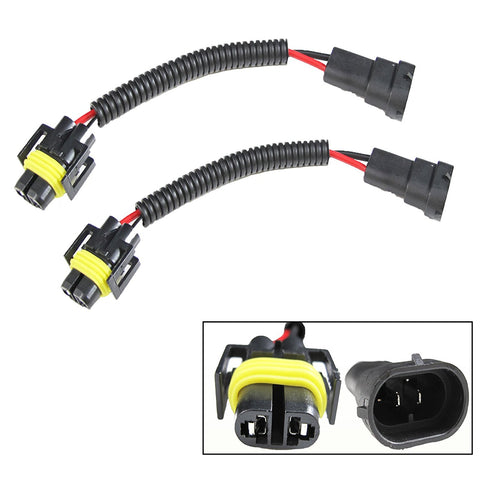 H11 H8 H9 Extension Wiring Harness Sockets Wire For Headlights / Fog Lights