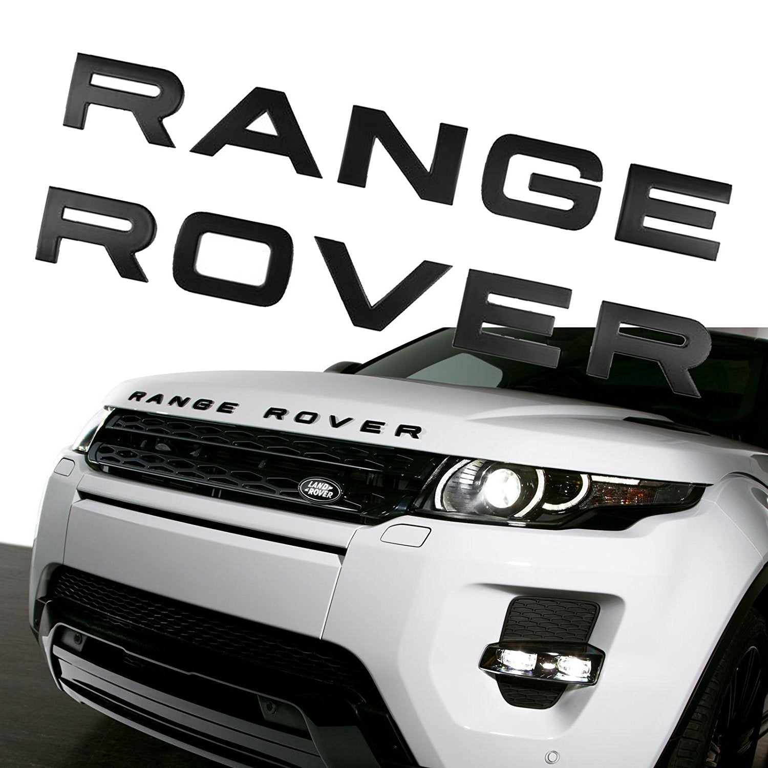 Matte Silver RANGE ROVER Trunk Badge Emblem Decal Letters Sticker for LAND ROVER