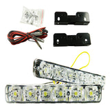 White/Amber Dual-Color Switchback LED Daytime Running Lights For Car SUV Truck