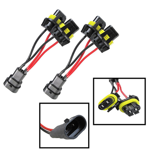 2 Pieces set 9005/9006 Headlight High Beam Splitter Wires For Quad/Dual Projector Headlights Retrofit