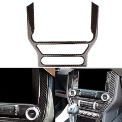Car Interior Multimedia Control Center Console Penal Trim Carbon Fiber Sticker For Ford Mustang 2015-2017