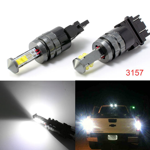 (2) Super Bright White 6000K 1800 LM 3156 3157 LED Bulbs for Backup Reverse Lights Bulbs