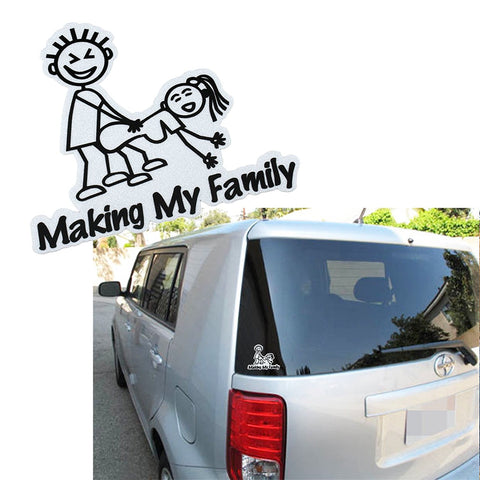 1x Making My Family Funny Illest Hellaflush Vinyl Decal Sticker Euro JDM Car Window