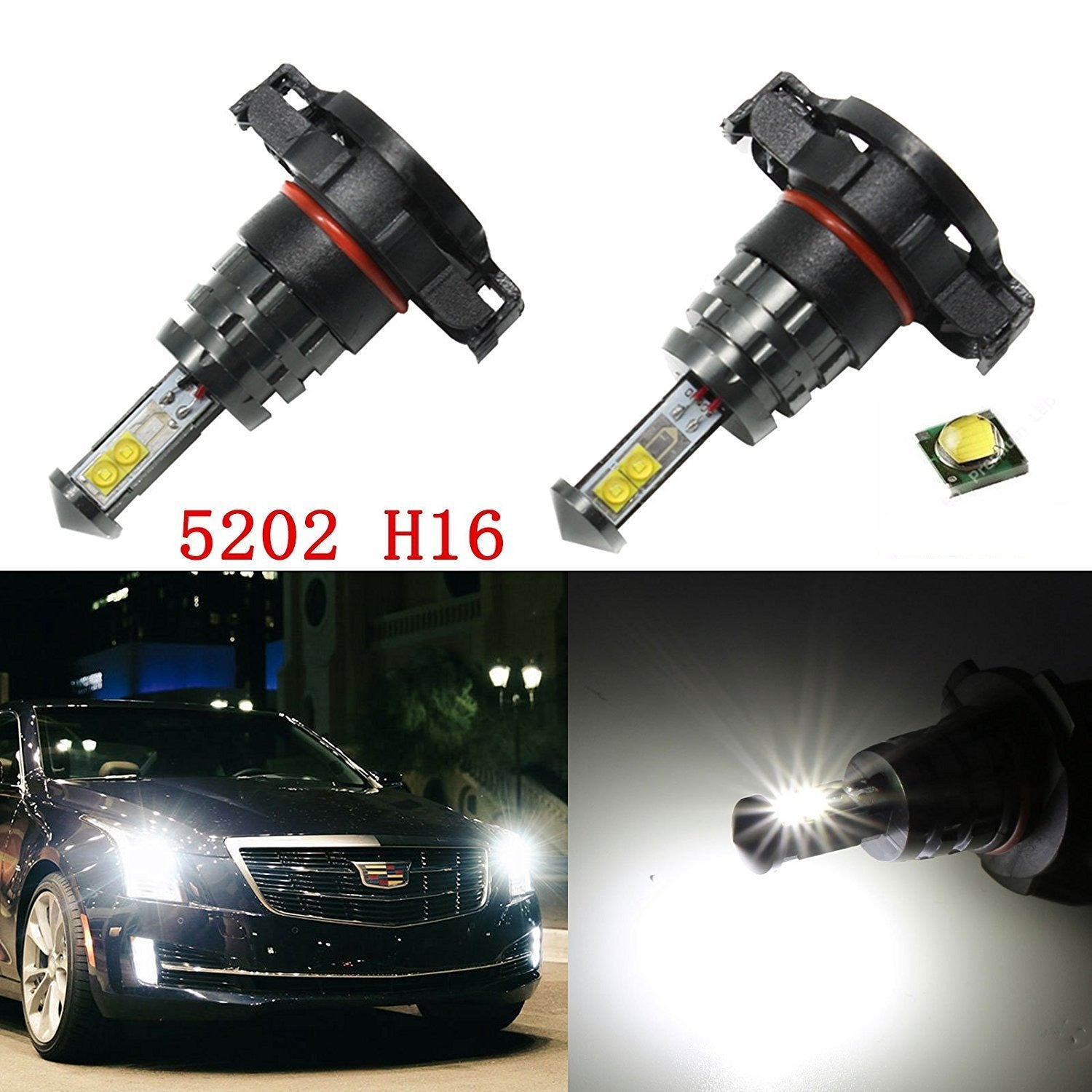 H16 2504 Ps24w Adapter For Fog Lights Drl Relay Wiring Harness Ebay Led Light Mediatown 360 2 Super Bright White Cree 5202 Daytime Running Driving
