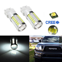 2 x High Power 3157 DRL 33-SMD Daytime Running LED Light bulbs Lamps 4114 4157NA 3047