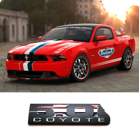 Black 5.0 COYOTE Emblem Badge Fender Tailgate For Ford Mustang F-150 BOSS 302
