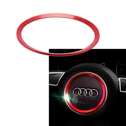 1 Piece Steering Wheel Center Decoration Cover Trim For Audi A3 A6 Q3 Q5 A5 A6L Gold or Red