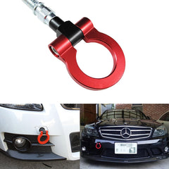 Red/ Neon Track Racing Style Aluminum Bumper Tow Hook For Mercedes-Benz C E S M CLA GLA GLK SLK X204