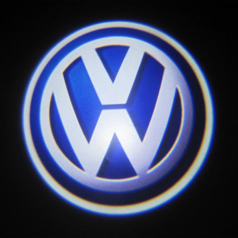 Volkswagen VW Passat/Jetta/Golf/Touareg LED Car Door Welcome Logo Ghost Shadow Projector Lights Courtesy Lights Reflect Logo on the Floor