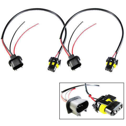 1 Pair 9006 To H13 Conversion Wires Adapters For Headlight Retrofit or HID Kit